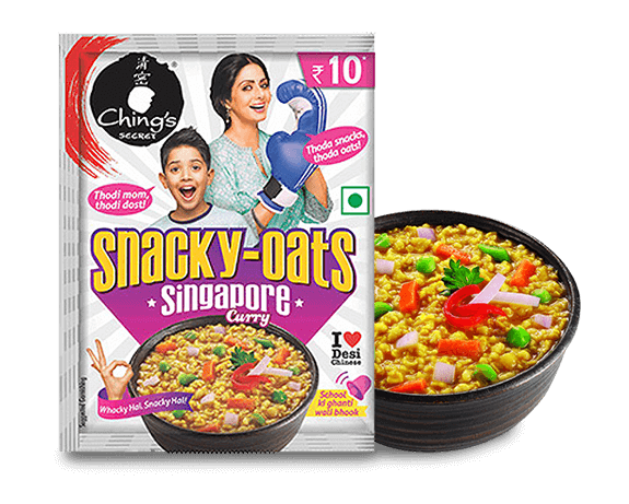 Singapore curry Snacky Oats