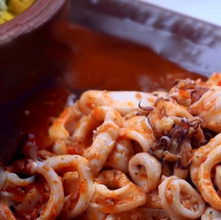 Schezwan Squids