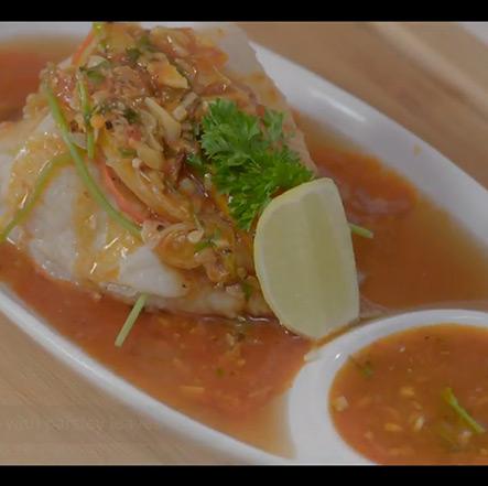 Steamed Schezwan Fish